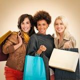 Ходить по магазинам женщин Стоковое Изображение
