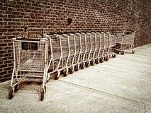 ходить по магазинам тележек Стоковая Фотография