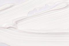 Ход кисти над белой бумагой Стоковые Изображения