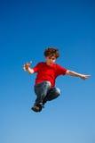 Ход мальчика, скакать напольный Стоковые Фото