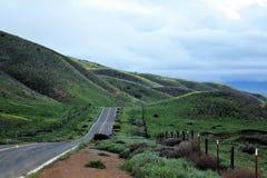 холмистая дорога Стоковые Фотографии RF