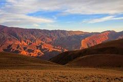 14 холмов цветов, colores cerro de los 14, Hornocal, Аргентина Стоковые Фото