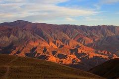 14 холмов цветов, colores cerro de los 14, Hornocal, Аргентина Стоковое Фото