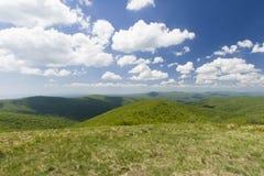 Холмы гор Bieszczady Стоковая Фотография