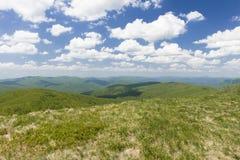 Холмы гор Bieszczady Стоковые Изображения RF