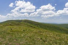 Холмы гор Bieszczady Стоковая Фотография RF