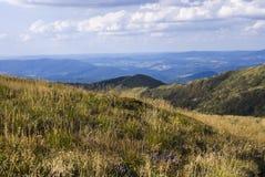 Холмы гор Bieszczady Стоковые Фотографии RF