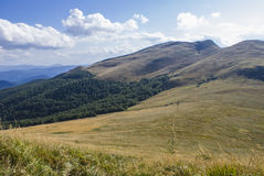 Холмы гор Bieszczady Стоковые Изображения