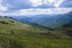 Холмы гор Bieszczady Стоковое фото RF