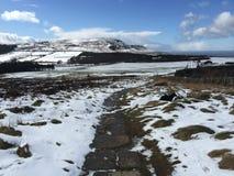 Холмы зимы стоковое изображение