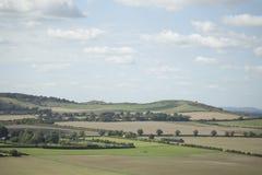 холмы и ландшафт Хартфордшира неба Стоковая Фотография