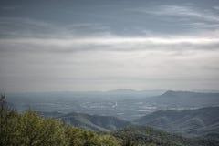Холмы и долина Риджа горы Smokey голубые Стоковые Фотографии RF