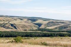 Холмы и промоины Стоковое Фото