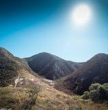 Холмы и сухой завод на том основании Стоковая Фотография RF