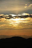 Холмы на восходе солнца Стоковое Фото