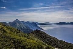 Холмы на море Стоковые Фотографии RF