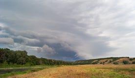 холмы Пасмурный ландшафт России Стоковая Фотография RF