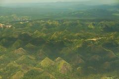 Холмы Legazpi шоколада зеленого холма Quitinday, Филиппины Стоковое Изображение