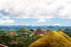 холмы philippines шоколада bohol Уникально место Стоковое фото RF