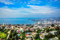 Холмы valparaiso Стоковое Изображение