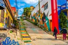 Холмы valparaiso Стоковые Фото