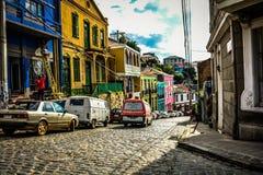 Холмы valparaiso стоковые фотографии rf