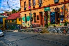 Холмы valparaiso стоковые изображения