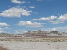 Холм в покрашенной пустыне Стоковая Фотография RF