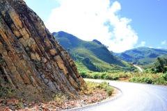 Холм горы в Лаосе Стоковая Фотография