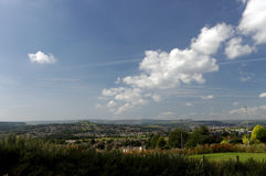 Холм и район замка Стоковые Изображения RF