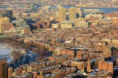 Холм маяка на заходе солнца, Бостон, Массачусетс стоковые фотографии rf
