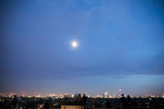 Холм на ноче, Лондон первоцвета Стоковые Фото