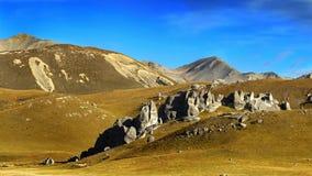 холм Новая Зеландия замока стоковое фото rf