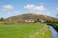 Холм обманщиков пиковый в части Англии Великобритании сельской местности Сомерсета прогулки Вессекса стоковые фотографии rf