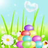 Холм от пасхальных яя цвета Стоковые Изображения RF