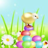 Холм от пасхальных яя цвета Стоковые Фото