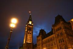 Холм парламента Оттавы стоковые фото