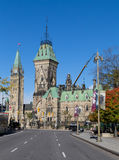 Холм парламента от улицы Elgin Стоковое Изображение RF