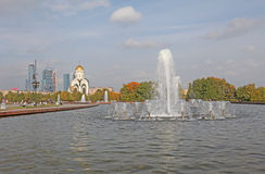 Холм смычка Poklonnaya, Москва Стоковые Изображения RF