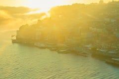 Холм с старым городком Порту, Португалии Стоковые Изображения