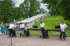 Холм шахмат фонтана в Petehof Стоковые Фото