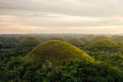 Холм шоколада в острове Bohol, филиппинском стоковое изображение rf
