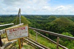 Холм шоколада в острове Bohol стоковые изображения rf