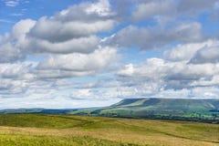 Холм Pendle, Lancashire Стоковые Фотографии RF
