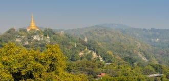 Холм Sagaing, Мьянма Стоковое Изображение