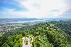 Холм Uetliberg, Цюрих, Швейцария стоковое фото