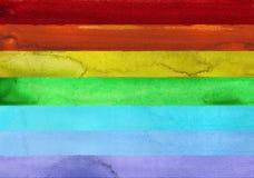 7 ходов краски акварели радуги Стоковая Фотография RF