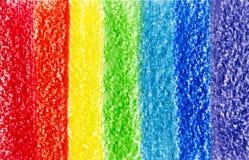 7 ходов crayon multi покрашенных Стоковое Изображение RF