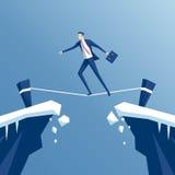 Ходок опасного положения бизнесмена иллюстрация вектора