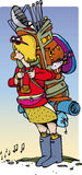 Ходок фестиваля иллюстрация штока
